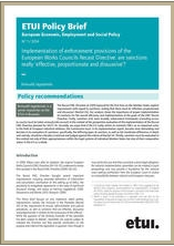 Policy Brief Implementation Of Enforcement Provisions The