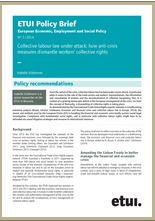 Policy Brief Collective Labour Law Under Attack How Anti Crisis